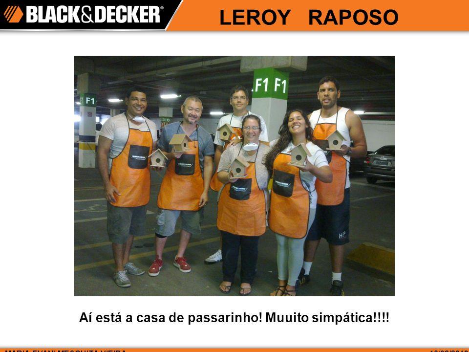 LEROY RAPOSO MARIA EVANI MESQUITA VIEIRA16/02/2013 Aí está a casa de passarinho! Muuito simpática!!!!