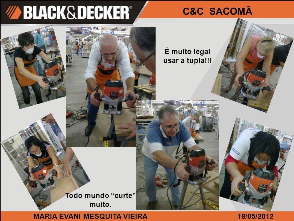 MARIA EVANI MESQUITA VIEIRA18/05/2012 C&C SACOMÃ É muito legal usar a tupia!!! Todo mundo curte muito.