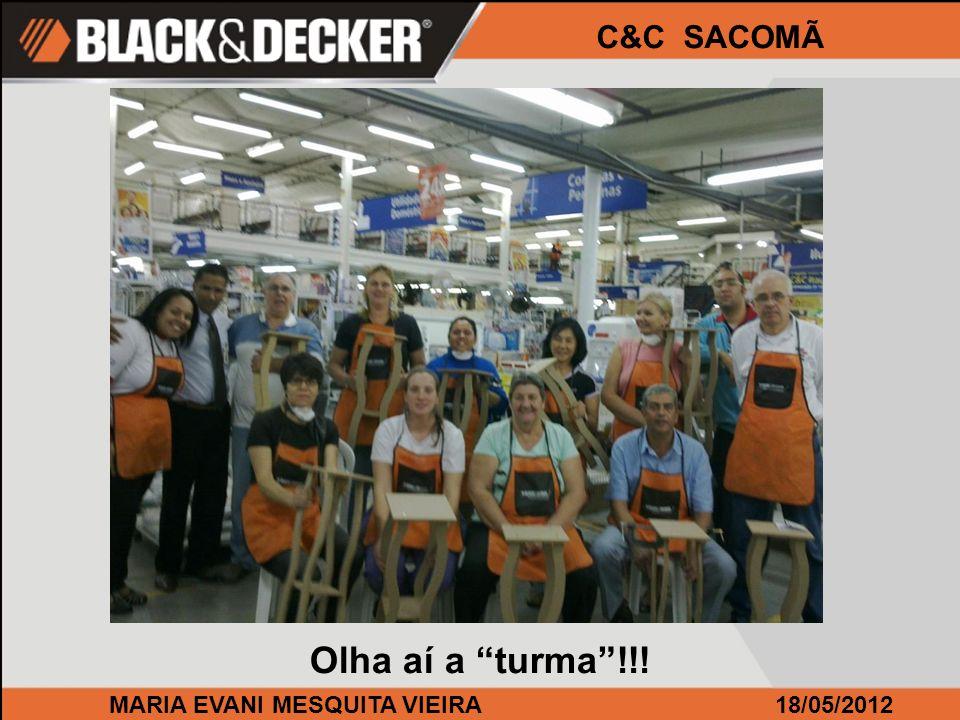 MARIA EVANI MESQUITA VIEIRA18/05/2012 C&C SACOMÃ Participaram 13 pessoas que como sempre, ficaram muito satisfeitos!