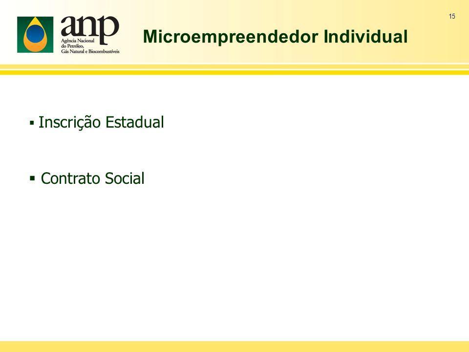 Microempreendedor Individual 15 Inscrição Estadual Contrato Social