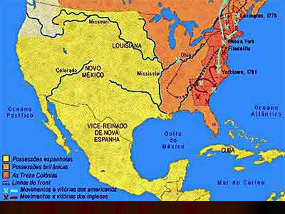 Rumo à independência Primeiro Congresso da Filadélfia (1774): pediu o fim das medidas restritivas ao deenvolvimento da colônia; deixou claro que nem todos queriam a independência; Primeiro Congresso da Filadélfia (1774): pediu o fim das medidas restritivas ao deenvolvimento da colônia; deixou claro que nem todos queriam a independência; Segundo Congresso da Filadélfia (1776): todas as colônias participaram; Segundo Congresso da Filadélfia (1776): todas as colônias participaram; Thomas Jefferson redigiu a Declaração Unânime dos Treze Estados Unidos da América, baseado em idéias iluministas.