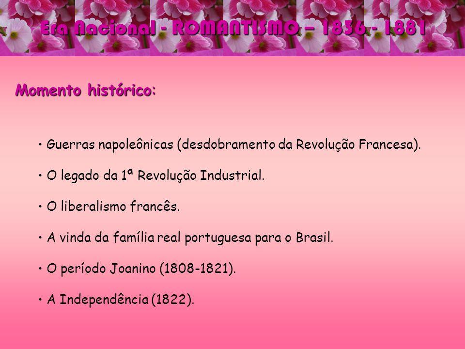 Era Nacional - ROMANTISMO – 1836 - 1881 Principais autores e obras: José de Alencar José de Alencar Consolidador do Romance brasileiro.