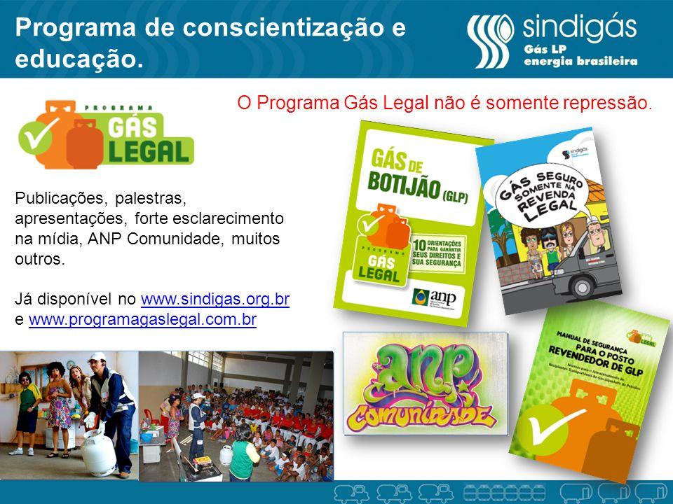 Programa de conscientização e educação.
