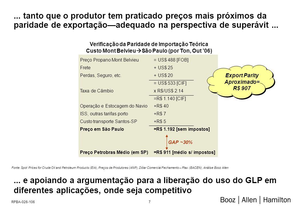 7RPBA-026-106... tanto que o produtor tem praticado preços mais próximos da paridade de exportaçãoadequado na perspectiva de superávit... Fonte: Spot