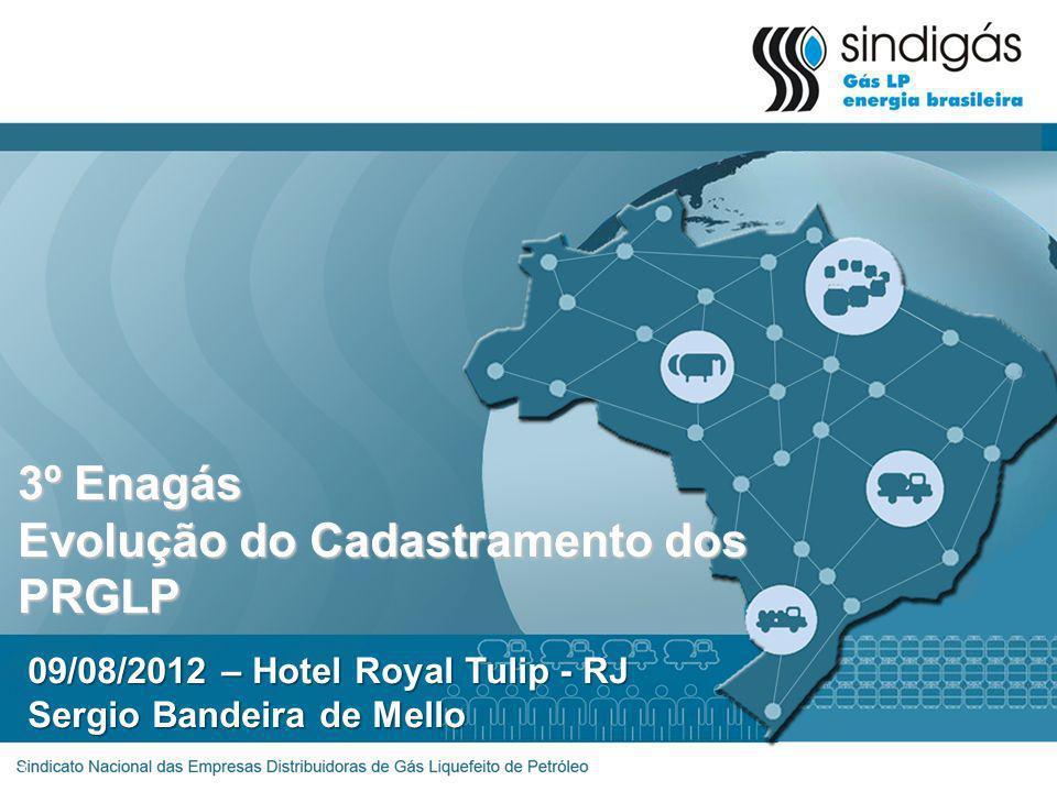 3º Enagás Evolução do Cadastramento dos PRGLP 09/08/2012 – Hotel Royal Tulip - RJ Sergio Bandeira de Mello.