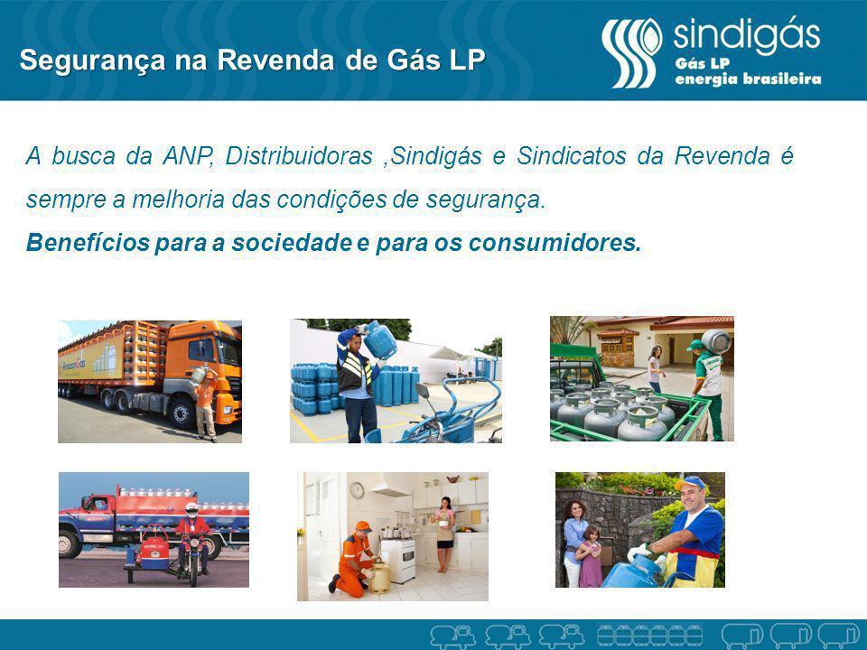 Segurança na Revenda de Gás LP A busca da ANP, Distribuidoras,Sindigás e Sindicatos da Revenda é sempre a melhoria das condições de segurança. Benefíc
