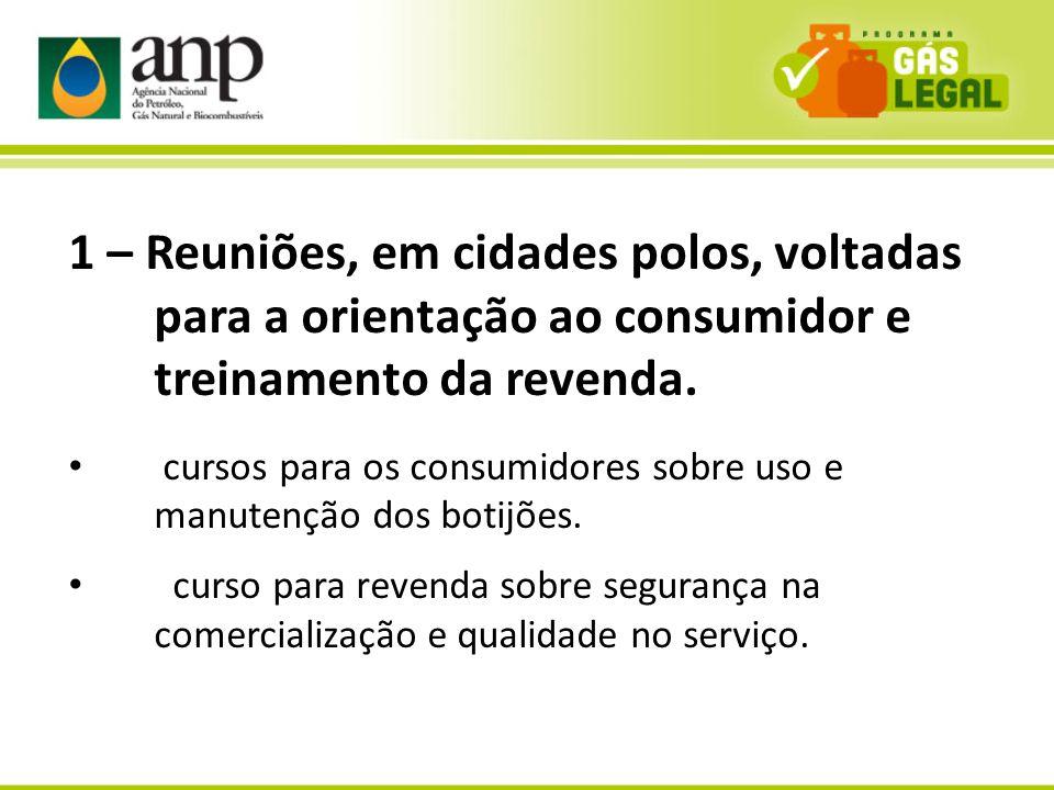 10 1 – Reuniões, em cidades polos, voltadas para a orientação ao consumidor e treinamento da revenda. cursos para os consumidores sobre uso e manutenç