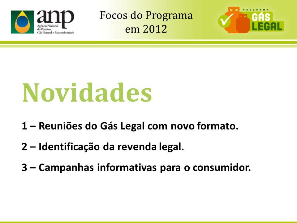 9 Novidades 1 – Reuniões do Gás Legal com novo formato. 2 – Identificação da revenda legal. 3 – Campanhas informativas para o consumidor. Focos do Pro