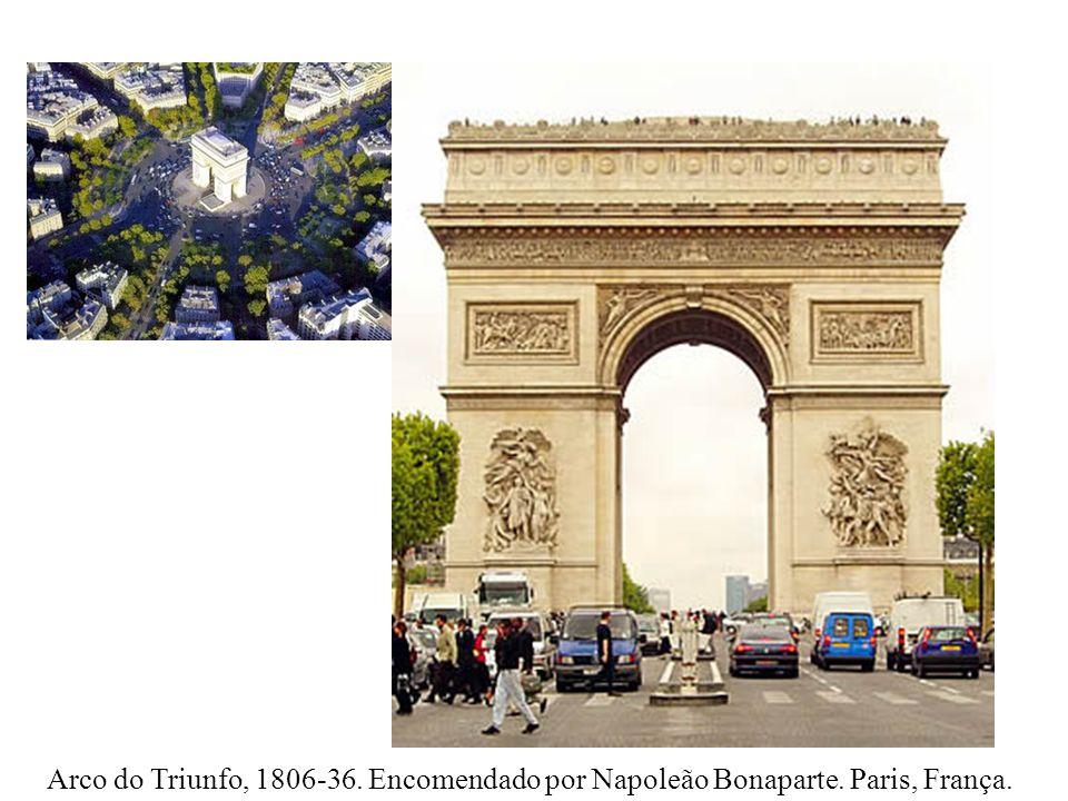 Arco do Triunfo, 1806-36. Encomendado por Napoleão Bonaparte. Paris, França.