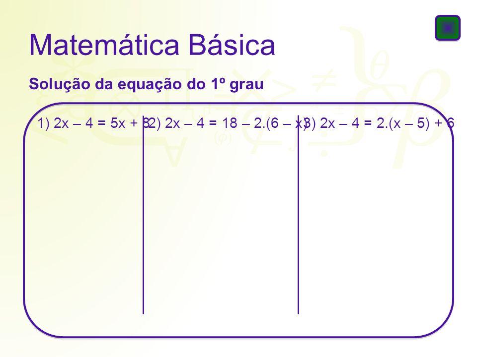 Matemática Básica Raízes: a e b 02.O valor da expressão 5.a + 4.a.b + 5.b é um quadrado perfeito.