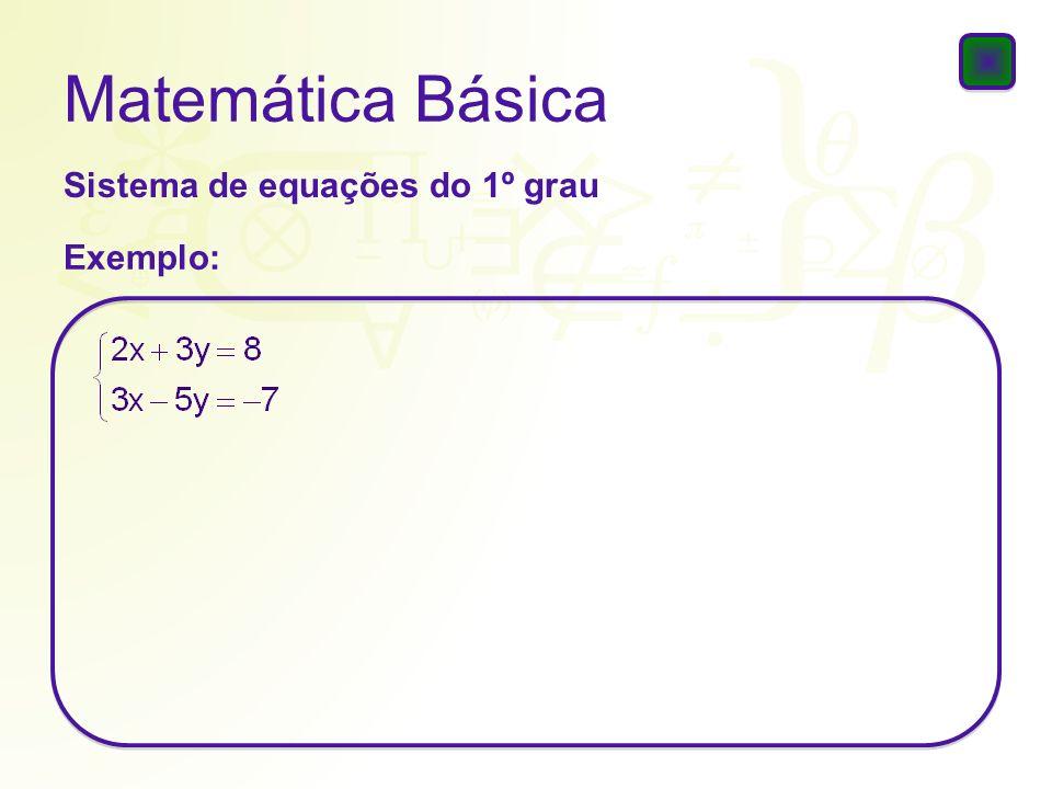 Matemática Básica Problemas Exemplo: Erivaldo tem hoje 39 anos, e seu filho Bruno tem 11 anos.