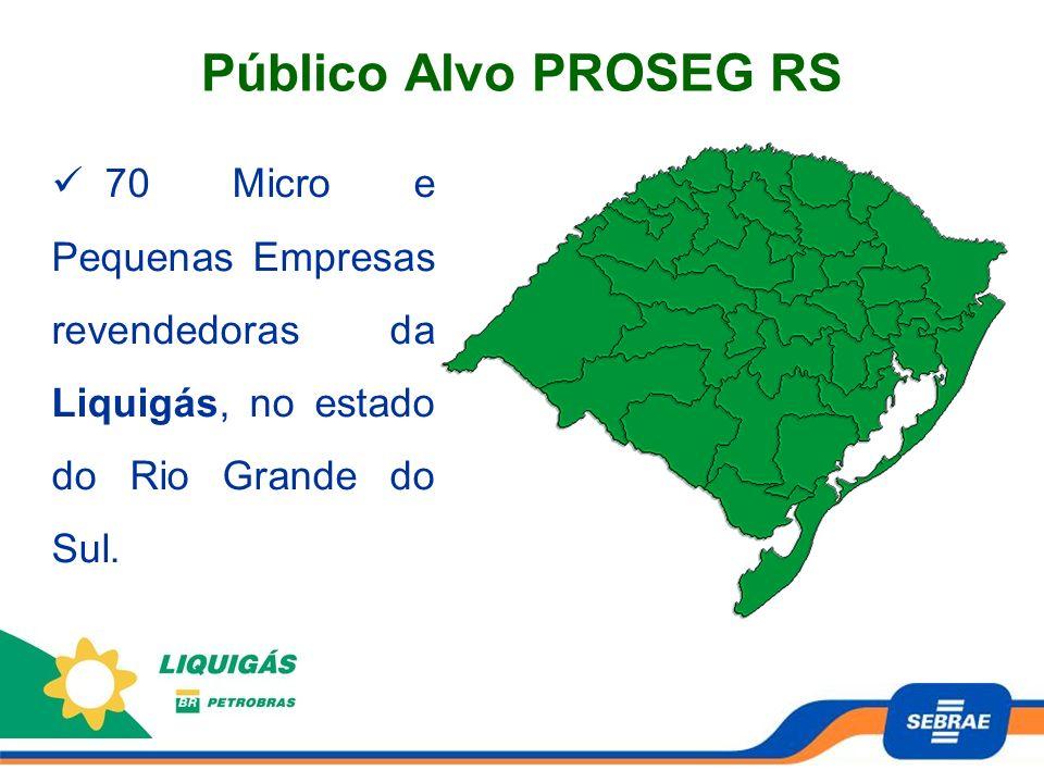 70 Micro e Pequenas Empresas revendedoras da Liquigás, no estado do Rio Grande do Sul. Público Alvo PROSEG RS