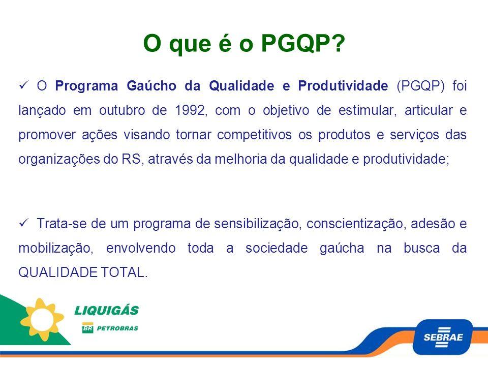 O que é o PGQP? O Programa Gaúcho da Qualidade e Produtividade (PGQP) foi lançado em outubro de 1992, com o objetivo de estimular, articular e promove