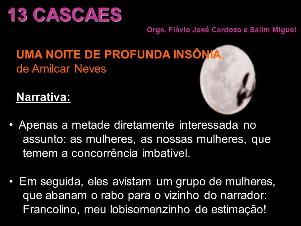 UMA NOITE DE PROFUNDA INSÔNIA, de Amilcar Neves Narrativa: Apenas a metade diretamente interessada no assunto: as mulheres, as nossas mulheres, que te