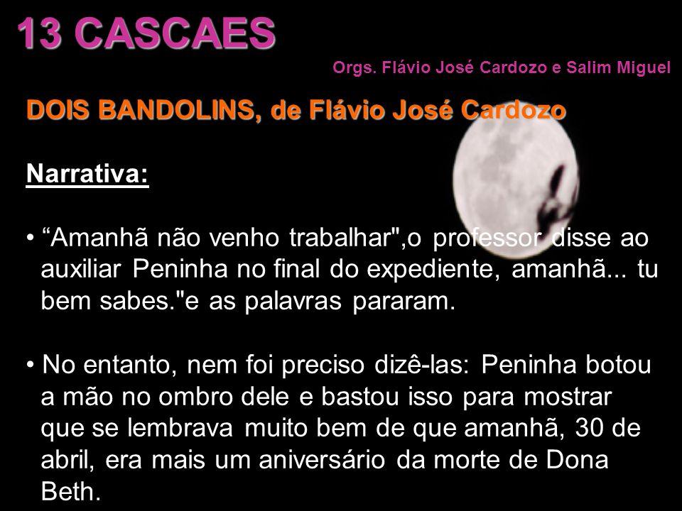 13 CASCAES Orgs. Flávio José Cardozo e Salim Miguel DOIS BANDOLINS, de Flávio José Cardozo Narrativa: Amanhã não venho trabalhar