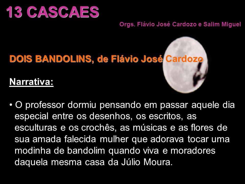 13 CASCAES Orgs. Flávio José Cardozo e Salim Miguel DOIS BANDOLINS, de Flávio José Cardozo Narrativa: O professor dormiu pensando em passar aquele dia