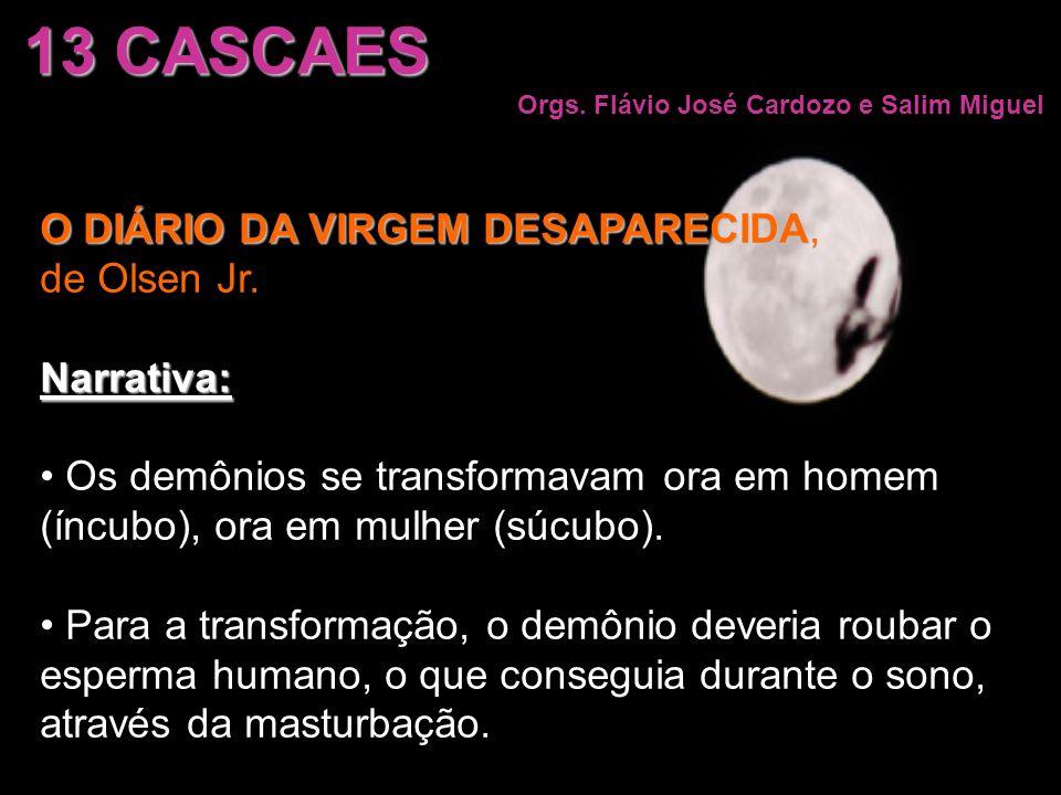 13 CASCAES Orgs. Flávio José Cardozo e Salim Miguel O DIÁRIO DA VIRGEM DESAPARECIDA O DIÁRIO DA VIRGEM DESAPARECIDA, de Olsen Jr.Narrativa: Os demônio