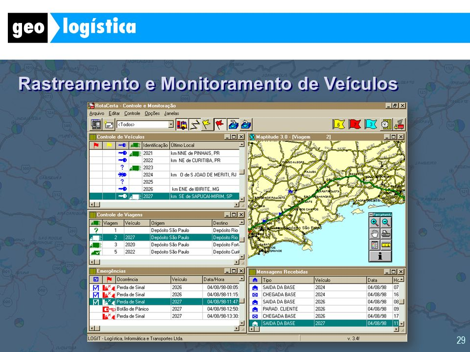 29 Rastreamento e Monitoramento de Veículos