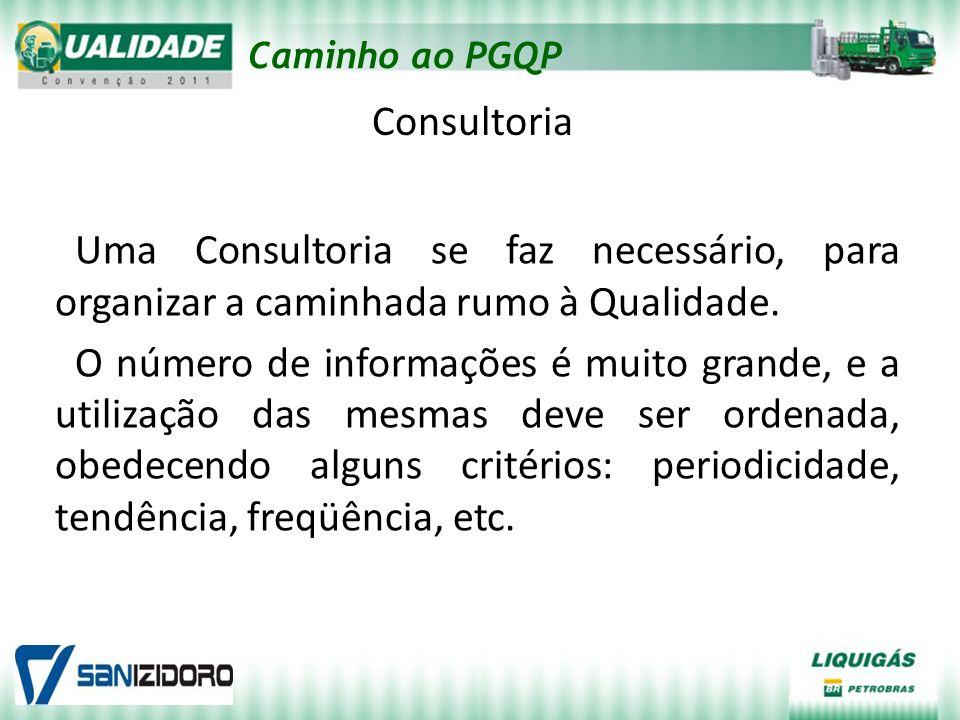 Caminho ao PGQP Consultoria Uma Consultoria se faz necessário, para organizar a caminhada rumo à Qualidade. O número de informações é muito grande, e
