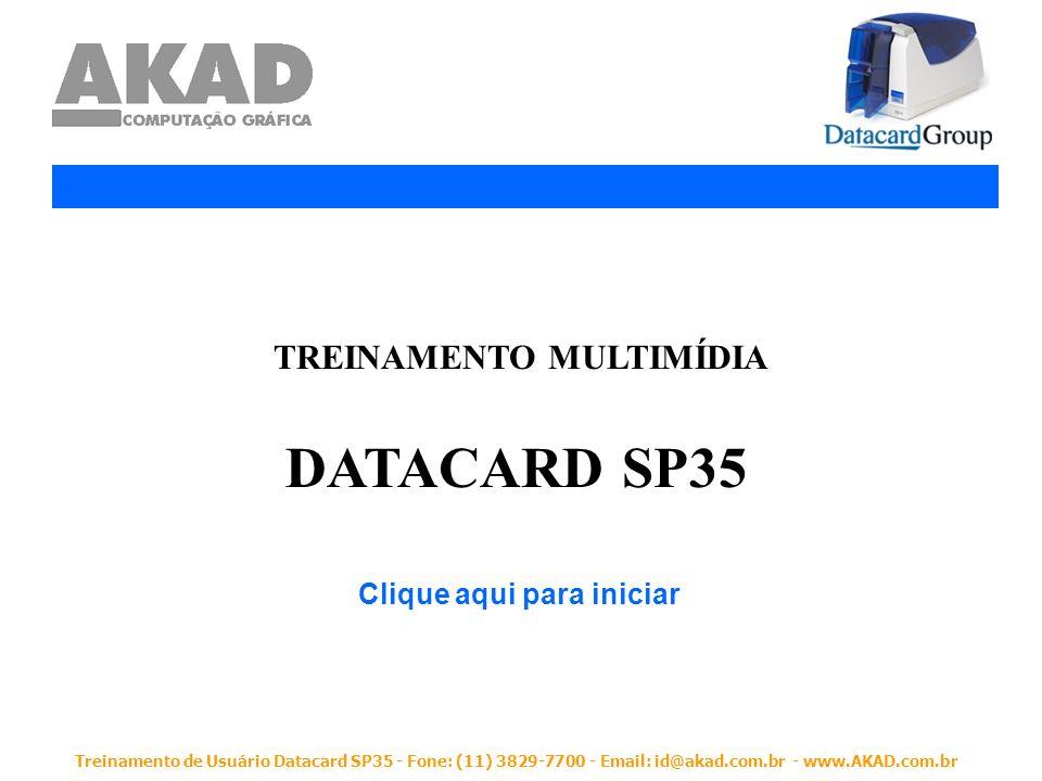 Treinamento de Usuário Datacard SP35 - Fone: (11) 3829-7700 - Email: id@akad.com.br - www.AKAD.com.br Efetuando Limpeza na Cabeça de Impressão Clique na figura ao lado para ver como efetuar a limpeza da cabeça de impressão.