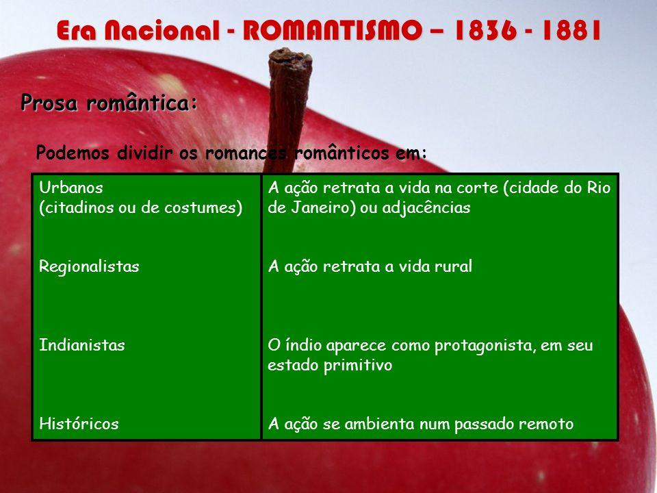 Principais autores e obras: Teixeira e Sousa 1º Romance romântico brasileiro: O filho do pescador.