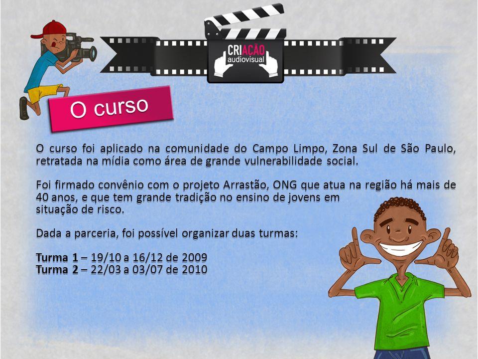 O curso foi aplicado na comunidade do Campo Limpo, Zona Sul de São Paulo, retratada na mídia como área de grande vulnerabilidade social.