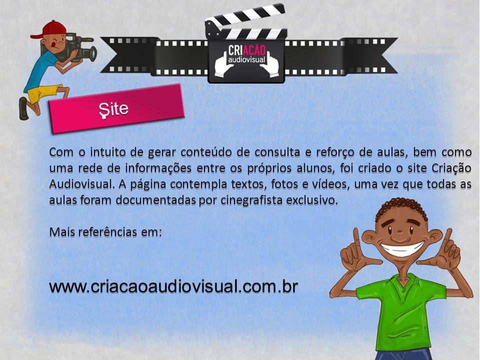 Site Com o intuito de gerar conteúdo de consulta e reforço de aulas, bem como uma rede de informações entre os próprios alunos, foi criado o site Criação Audiovisual.