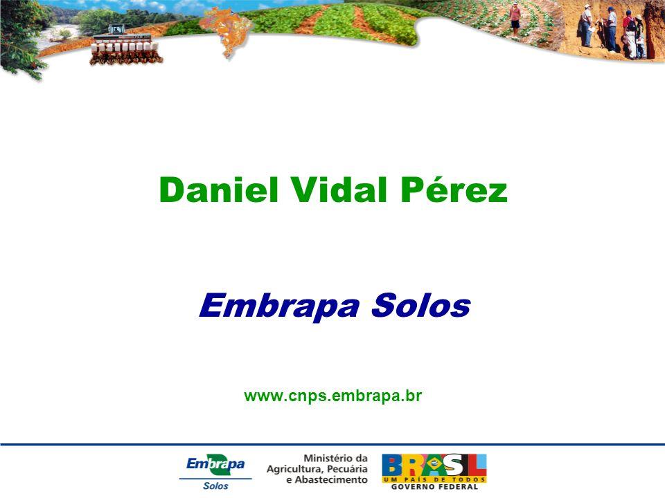 Daniel Vidal Pérez Embrapa Solos www.cnps.embrapa.br