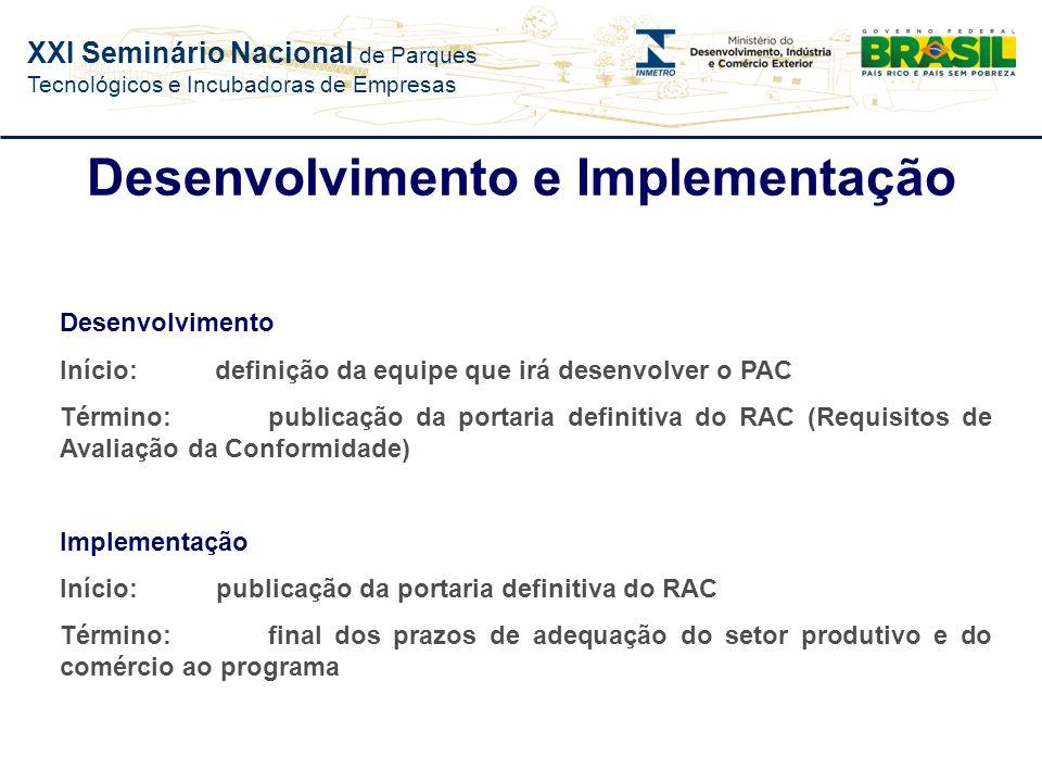 XXI Seminário Nacional de Parques Tecnológicos e Incubadoras de Empresas Estudo de Impacto e Viabilidade (EIV) Análise Política; Análise Econômica; An