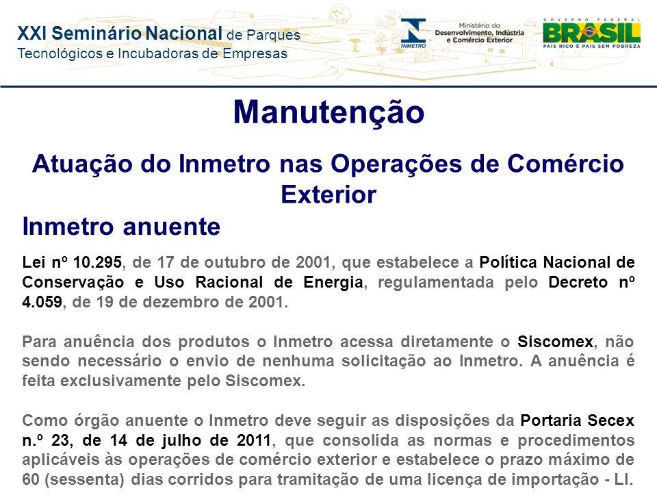 XXI Seminário Nacional de Parques Tecnológicos e Incubadoras de Empresas Evolução do Nº de Ações de Fiscalização