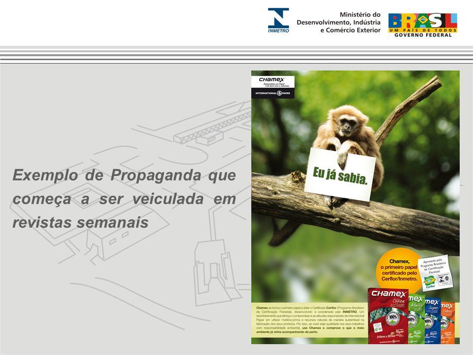 Exemplo de Propaganda que começa a ser veiculada em revistas semanais