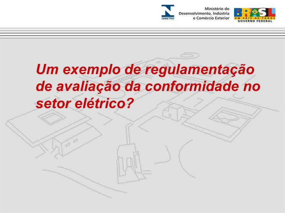 Um exemplo de regulamentação de avaliação da conformidade no setor elétrico?