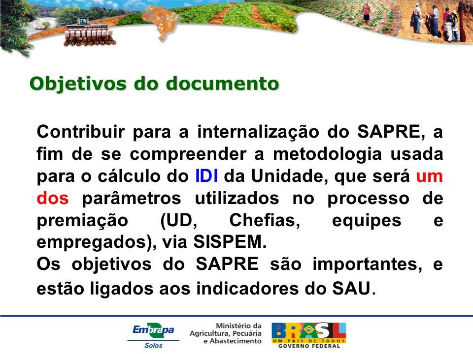 Para o IDI são considerados: Produtividade Qualidade de Gestão Satisfação e Impactos (RN 06, de 05/03/2009).