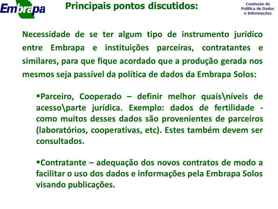 Comissão de Política de Dados e Informações 1.Disponibilização dos documentos (memórias, resumo das memórias, minuta, tabela e documentos base).