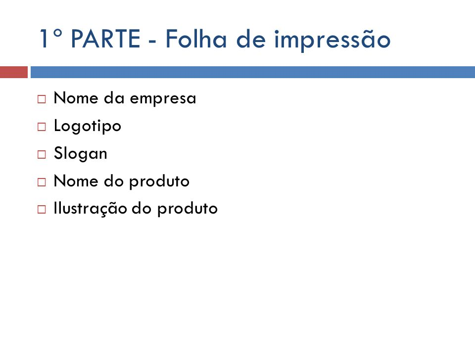 Folha de impressão- folder Folha A4 dividida em três partes em paisagem.