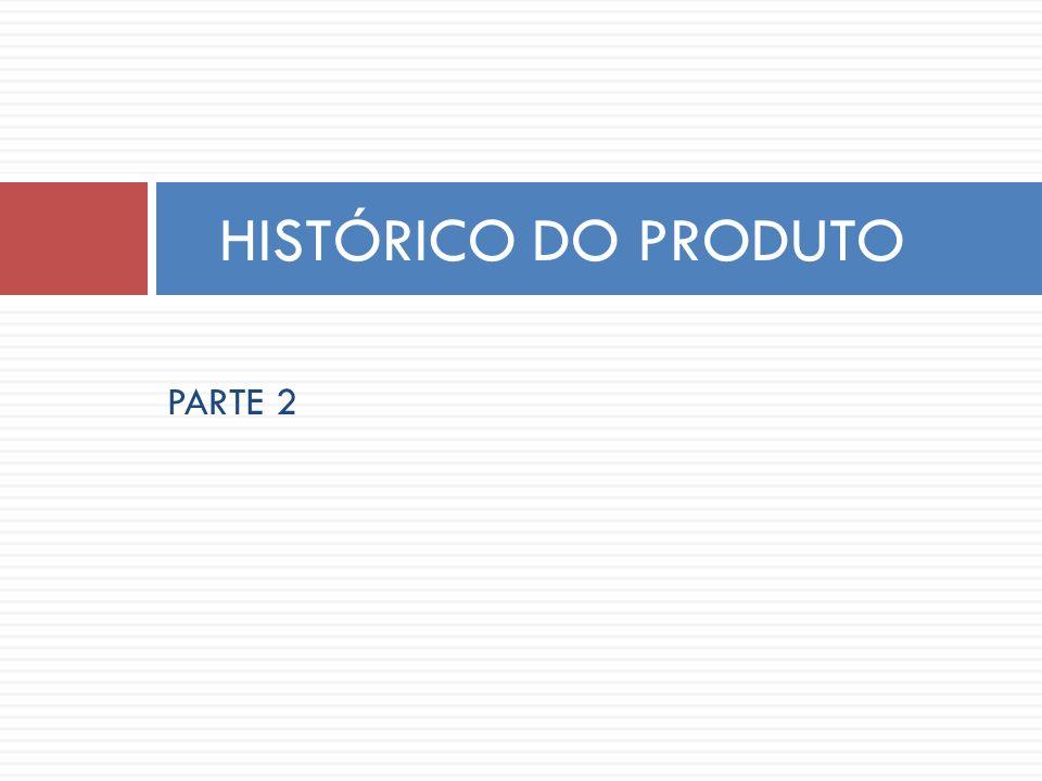 PARTE 2 HISTÓRICO DO PRODUTO