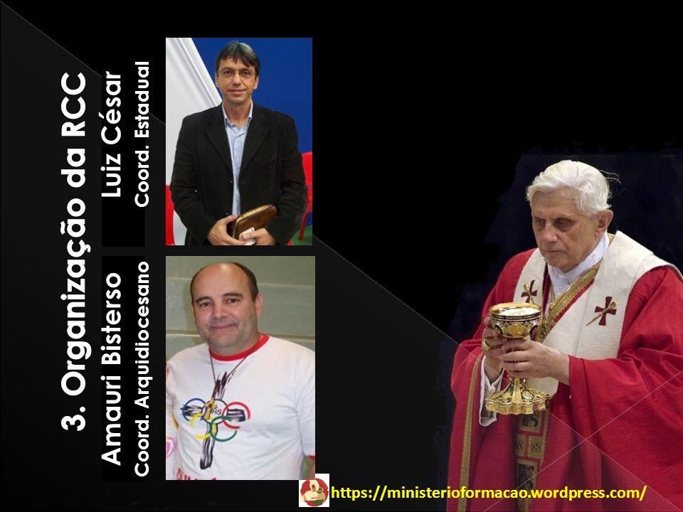 https://ministerioformacao.wordpress.com/ Luiz César Coord. Estadual Amauri Bisterso Coord. Arquidiocesano