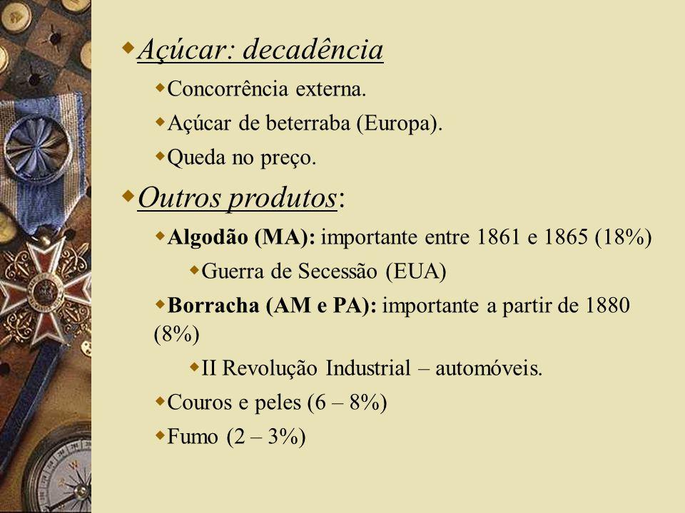 Questão Abolicionista: Abolição da Escravidão (1888) retira do governo imperial sua última base de sustentação: aristocracia tradicional.