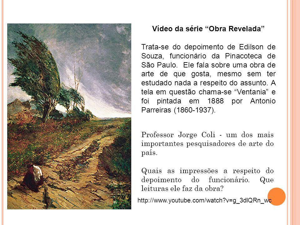 Professor Jorge Coli - um dos mais importantes pesquisadores de arte do país. Quais as impressões a respeito do depoimento do funcionário. Que leitura