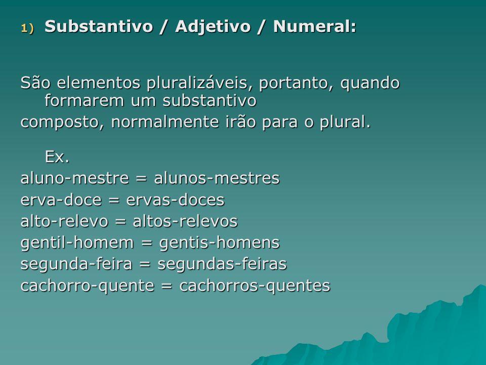 02) Pronome: Alguns pronomes admitem plural; outros, não.