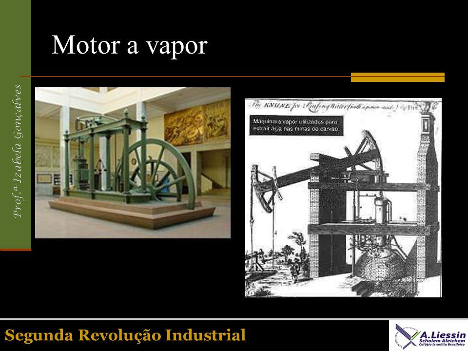 Prof.ª Izabela Gonçalves Segunda Revolução Industrial Motor a vapor