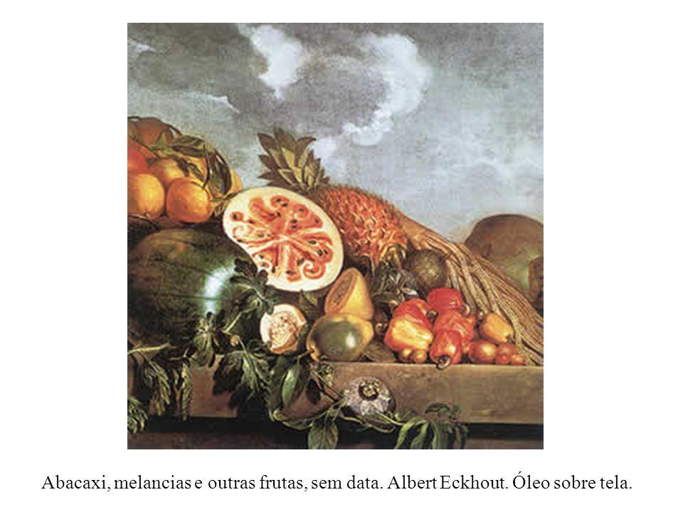 Abacaxi, melancias e outras frutas, sem data. Albert Eckhout. Óleo sobre tela.