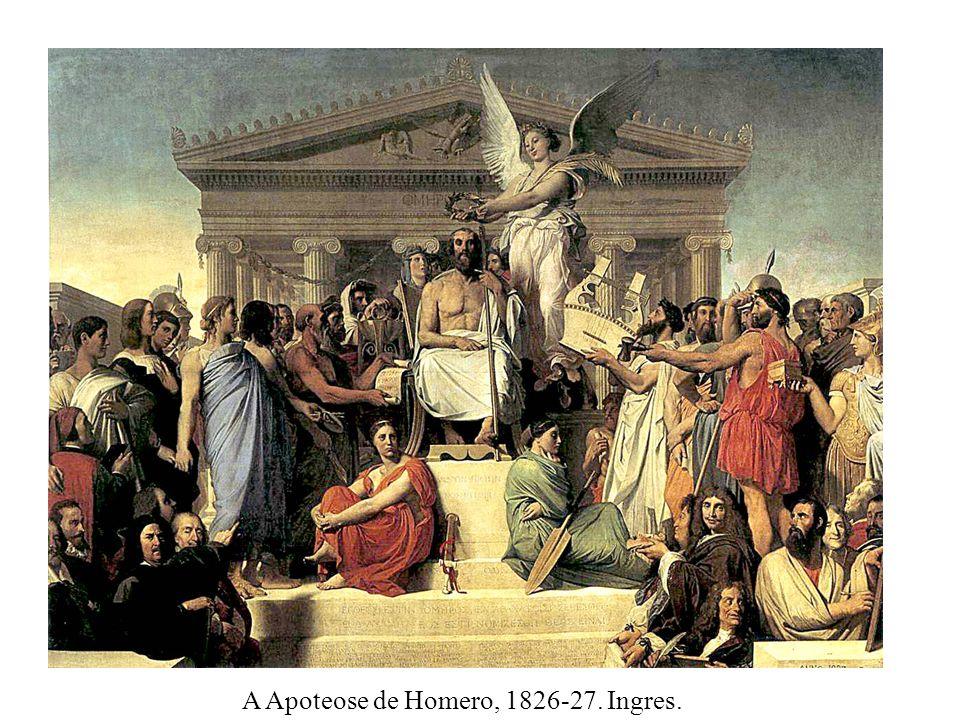 A Apoteose de Homero, 1826-27. Ingres.