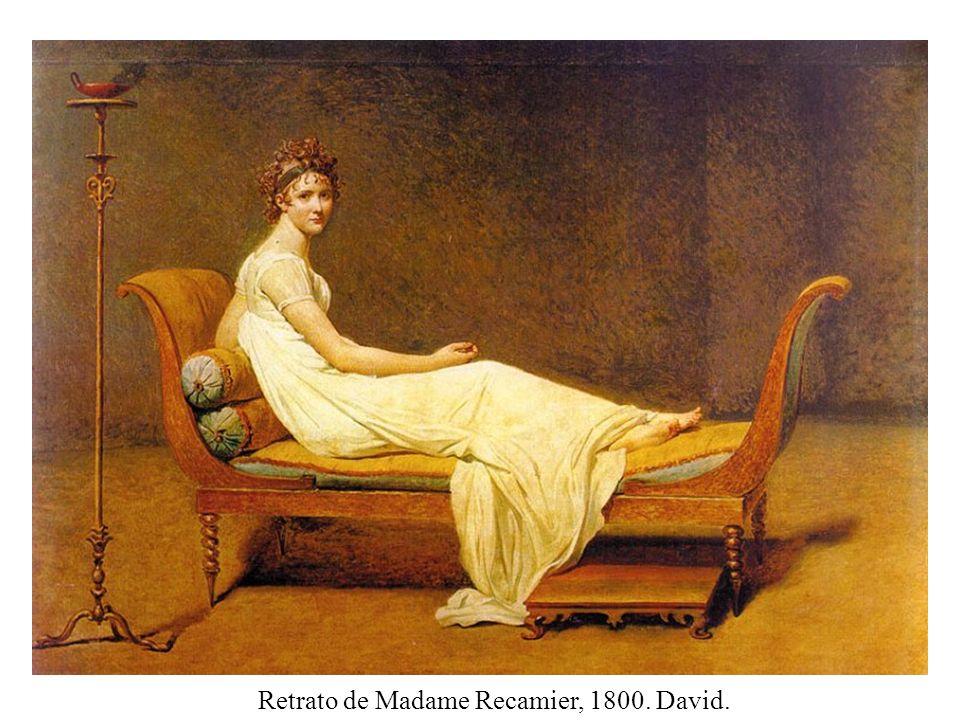 Retrato de Madame Recamier, 1800. David.