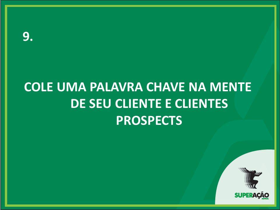 9. COLE UMA PALAVRA CHAVE NA MENTE DE SEU CLIENTE E CLIENTES PROSPECTS