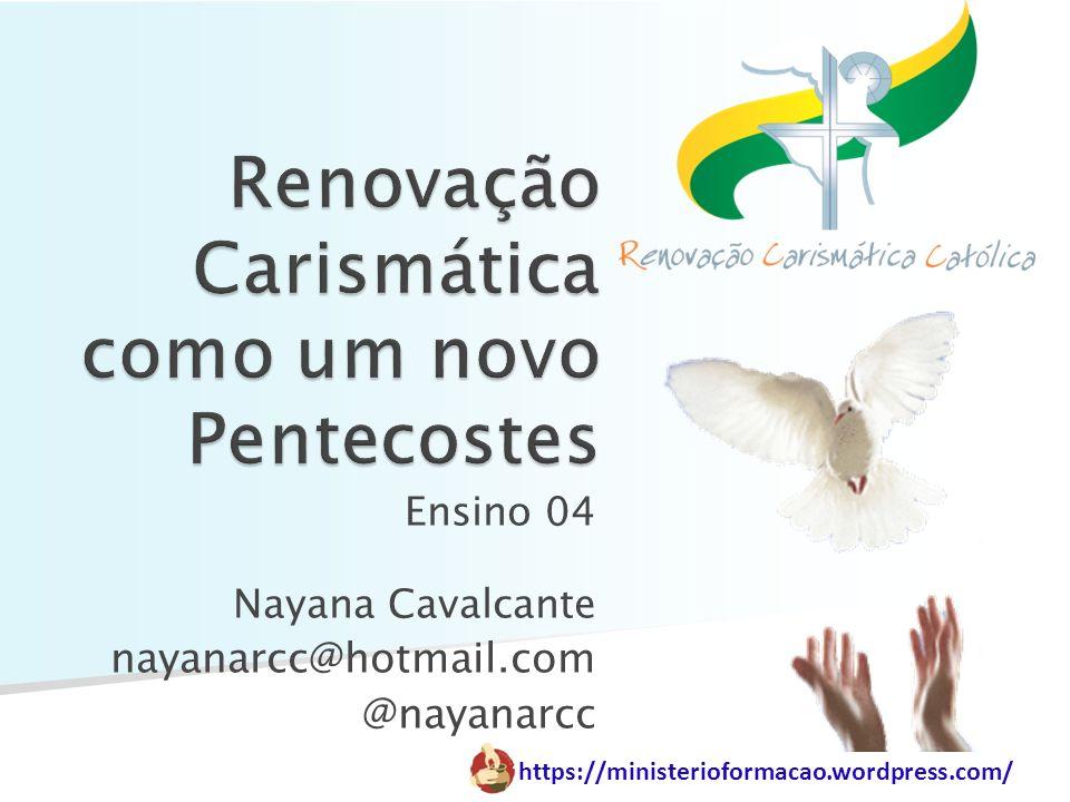 https://ministerioformacao.wordpress.com/ A RCC é uma graça de Pentecostes, pois é herdeira do movimento pentecostal apostólico que marcou a fundação da Igreja.