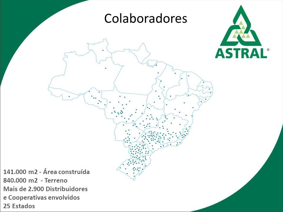 141.000 m2 - Área construída 840.000 m2 - Terreno Mais de 2.900 Distribuidores e Cooperativas envolvidos 25 Estados Colaboradores