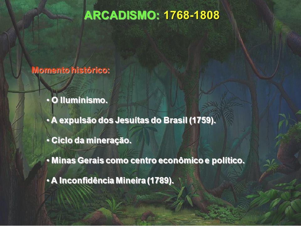 ARCADISMO: 1768-1808 Momento histórico: O Iluminismo. O Iluminismo. A expulsão dos Jesuítas do Brasil (1759). A expulsão dos Jesuítas do Brasil (1759)