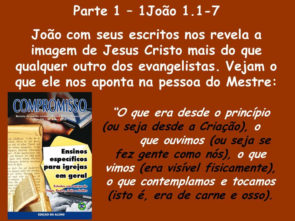 Parte 2 – 1João 1.8-10 Fazendo a comparação deste Cristo com o ser humano falível que somos, ele aponta para a nossa identidade cristã: Se dissermos que não temos pecado nenhum, enganamo-nos a nós mesmos, e a verdade não está em nós.