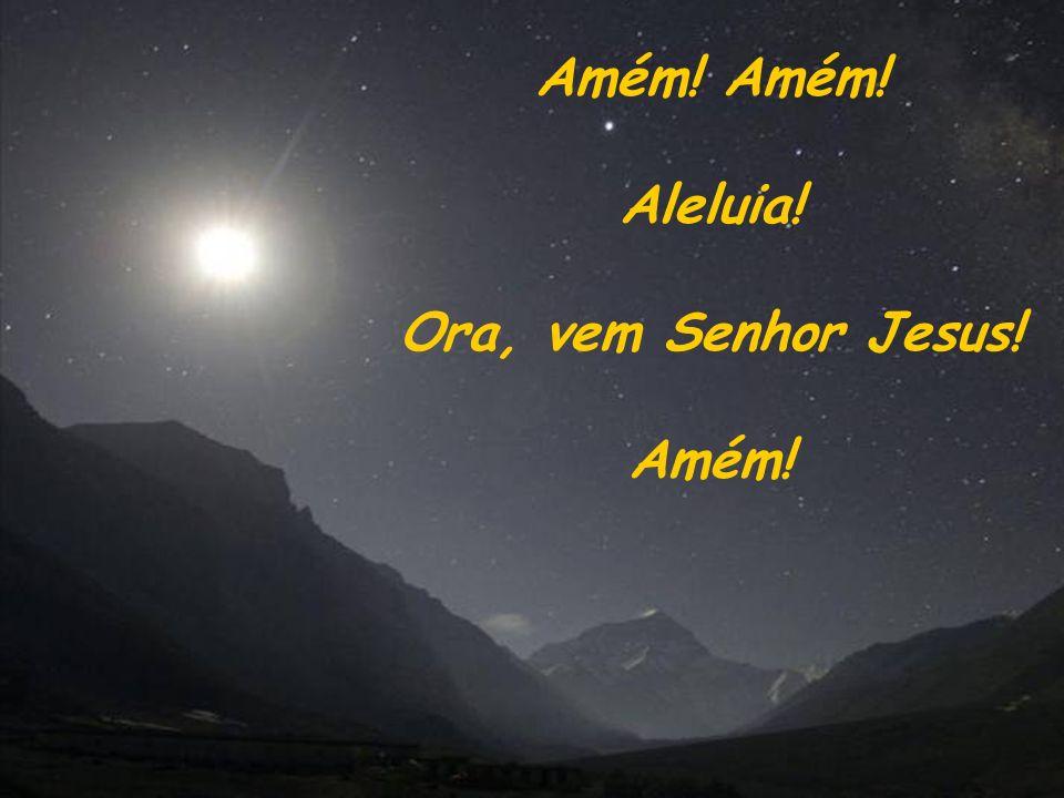 Amém! Aleluia! Ora, vem Senhor Jesus! Amém!